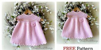 Pretty Pink Baby Dress Free Crochet Pattern