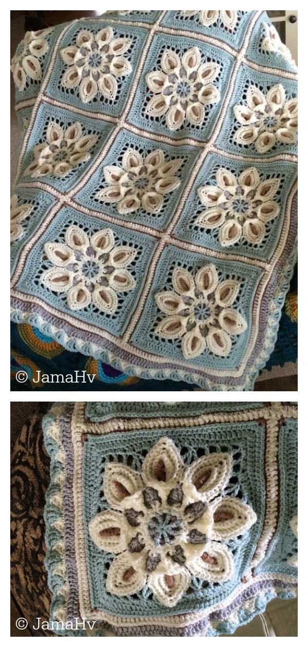 Purifying Puritans Afghan Blanket Free Crochet Pattern