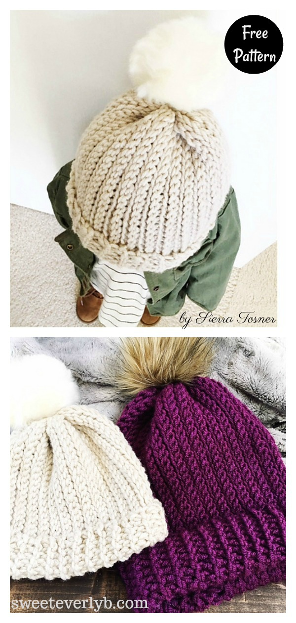 Ribbed Beanie Hat Free Crochet Pattern
