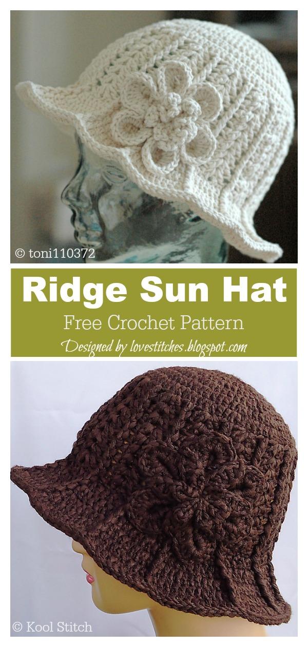 Ridge Sun Hat Free Crochet Pattern