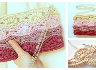 Shell Stitch Clutch Free Crochet Pattern