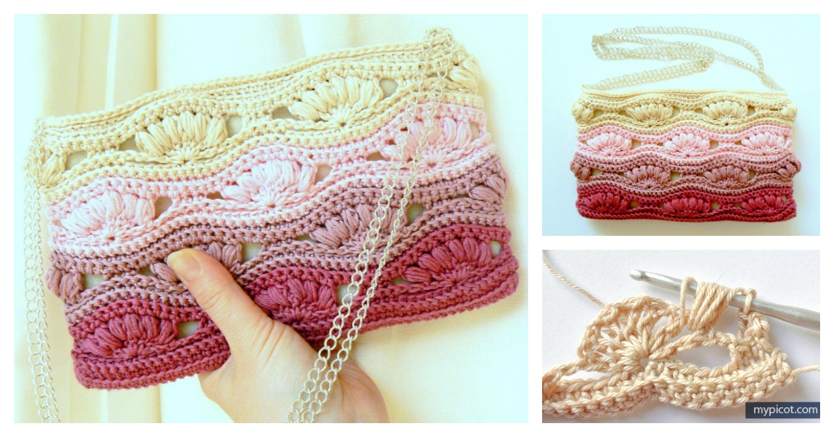 Shell Stitch Clutch Free Crochet Pattern