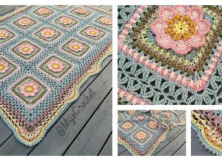 Floral Afghan Blanket Free Crochet Pattern
