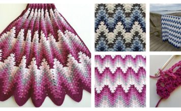Spiked Ripple Baby Blanket Free Crochet Pattern