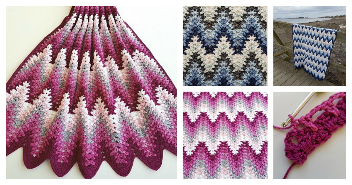 Spiked Ripple Baby Blanket Free Crochet Pattern