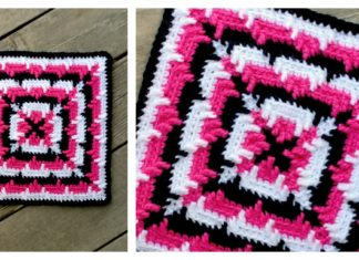 Squared Ripples Free Crochet Pattern