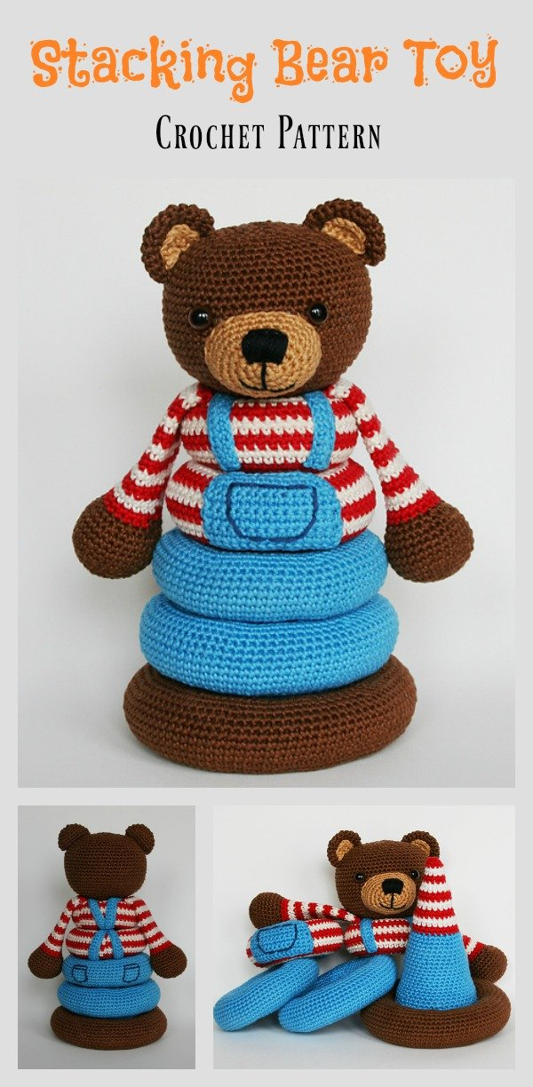 Stacking Bear Toy Crochet Pattern