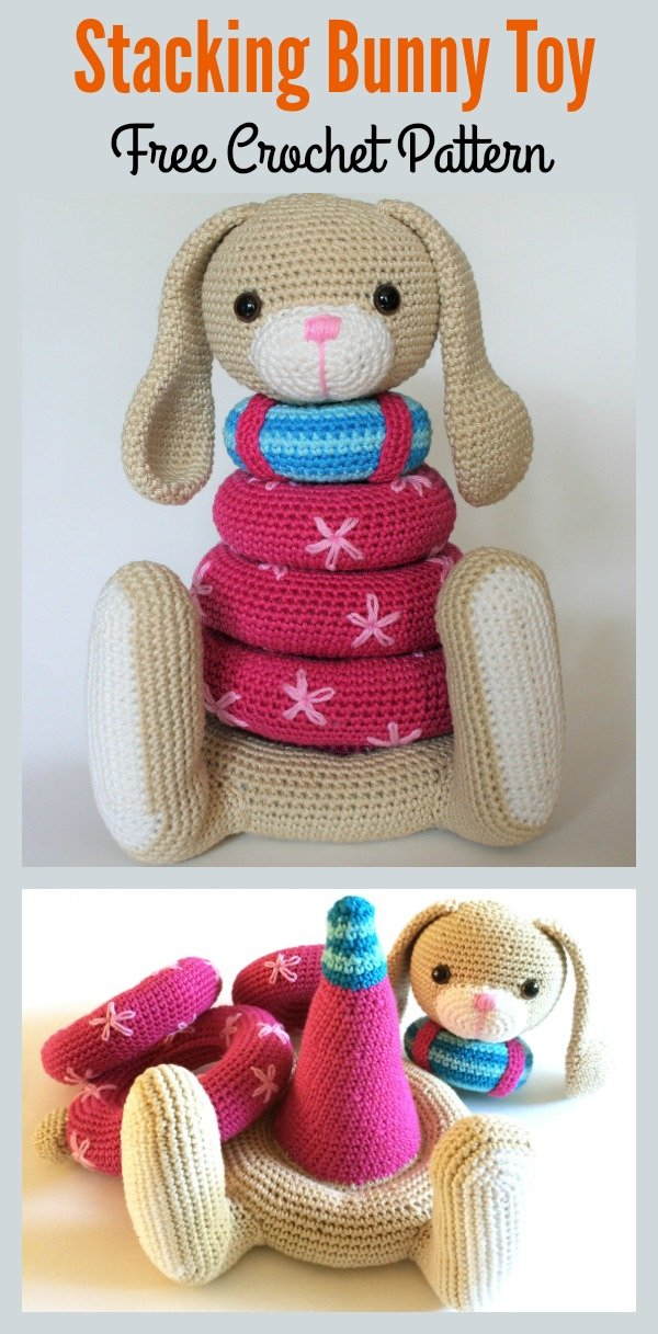 Stacking Bunny Toy Crochet Pattern