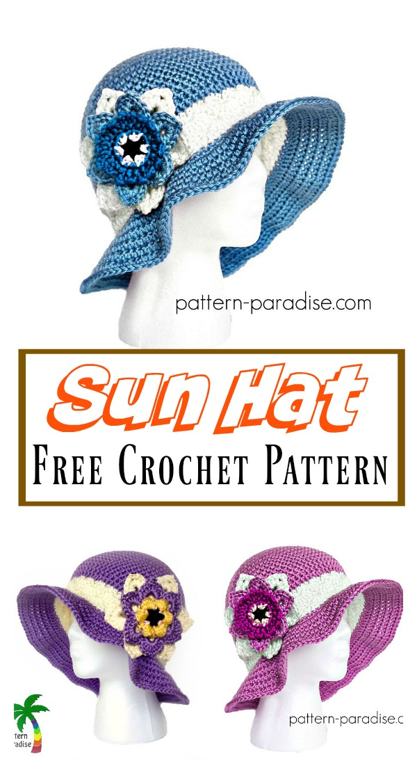 Summer Joy Sun Hat Free Crochet Pattern