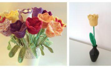Tulip Flower Free Crochet Pattern