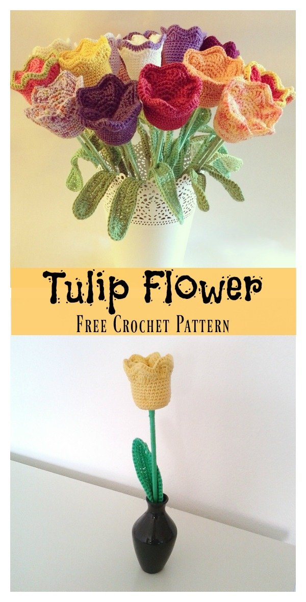 Tulip Flower Free Crochet Pattern
