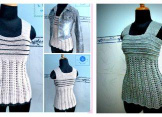 Wide Strap Tank Top Free Crochet Pattern