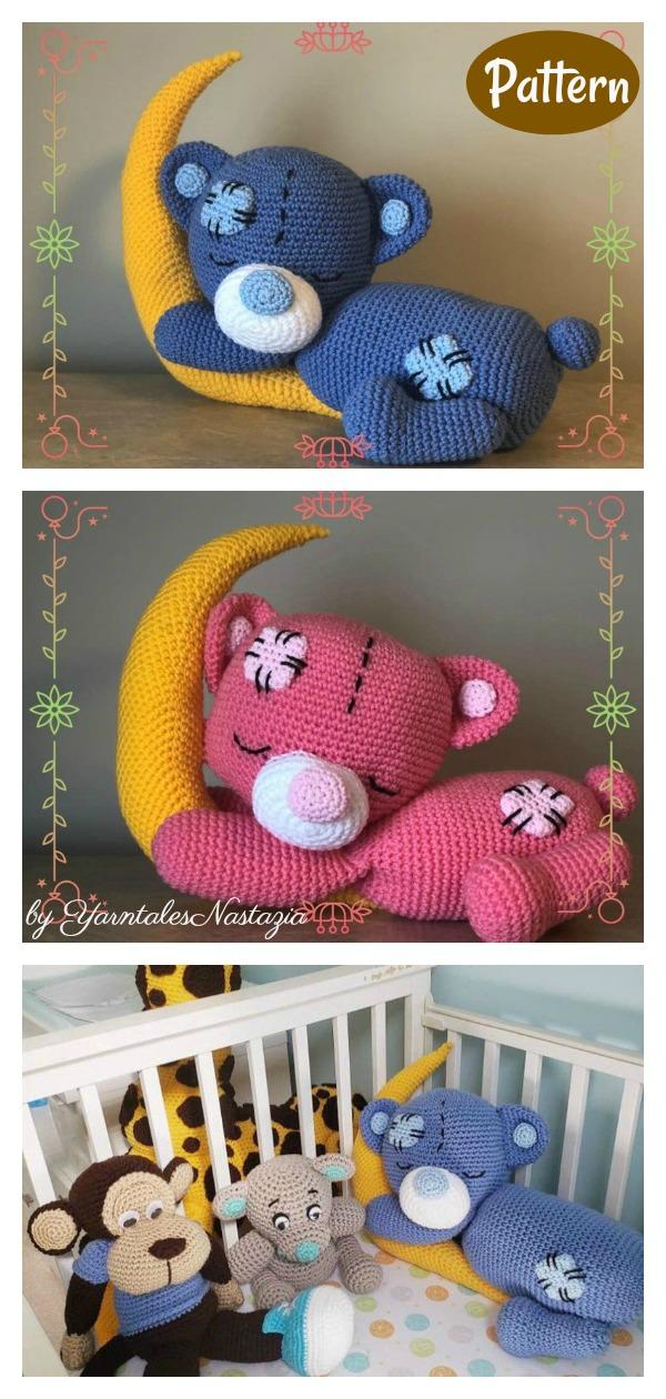 Baby Bear Sleeping on The Moon Crochet Pattern