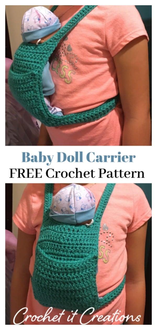 Baby Doll Carrier Free Crochet Pattern