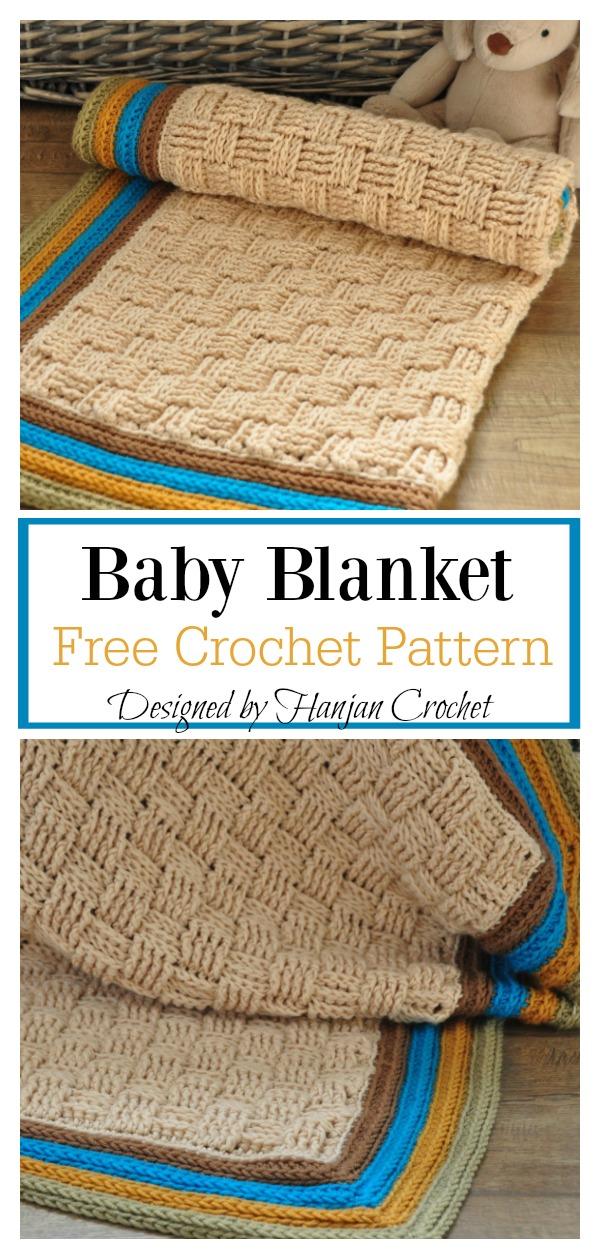 Basketweave Stitch Baby Blanket Free Crochet Pattern Cool Creativities
