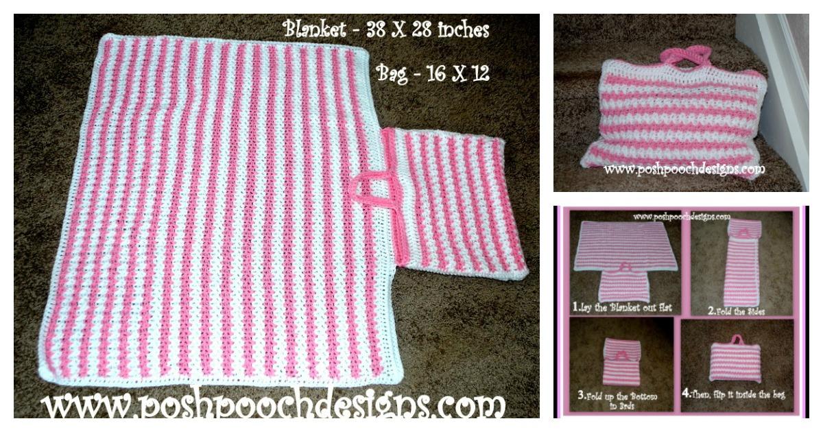 Blanket In A Bag Free Crochet Pattern