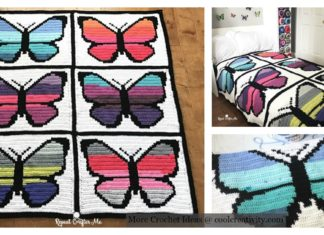 Butterfly Graphgan Afghan Blanket Free Crochet Pattern