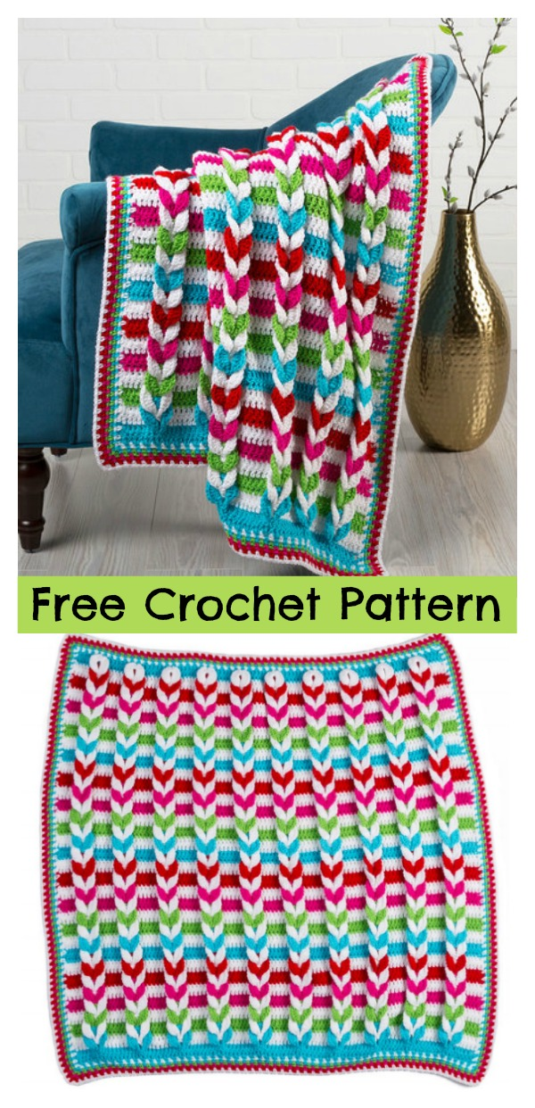 Cable Stitch Pulled Taffy Blanket Free Crochet Pattern