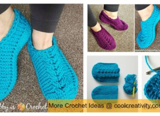 Chic Cable Slippers Free Crochet Pattern