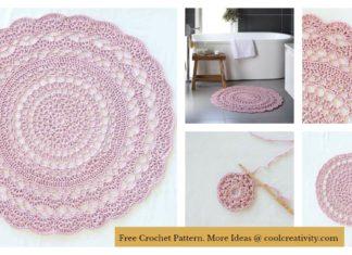 Lacy Doily Rug Free Crochet Pattern