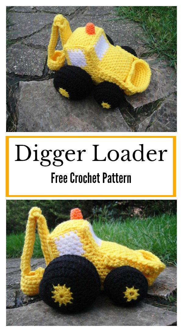 Digger Loader Amigurumi Soft Toy Free Crochet Pattern p