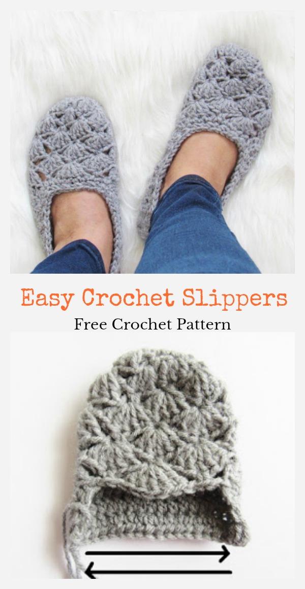Easy Crochet Slippers Free Crochet Pattern Cool Creativities