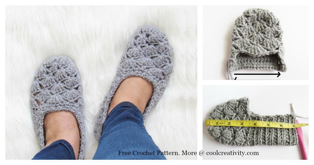 Easy Crochet Slippers Free Crochet Pattern