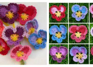 Granny's Pansy Free Crochet Pattern