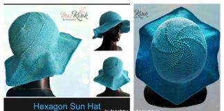 Hexagon Sun Hat Free Crochet Pattern