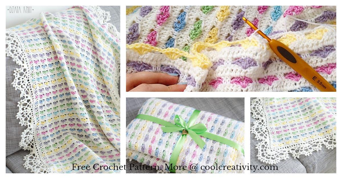I Love Scraps Afghan Baby Blanket Free Crochet Pattern