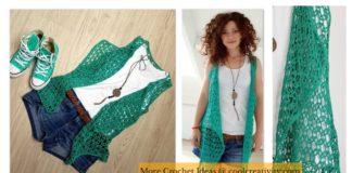 Lace Summer Vest Free Crochet Pattern