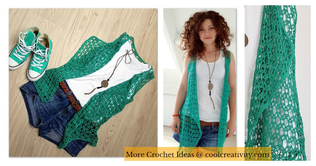 Lace Summer Vest Free Crochet Pattern