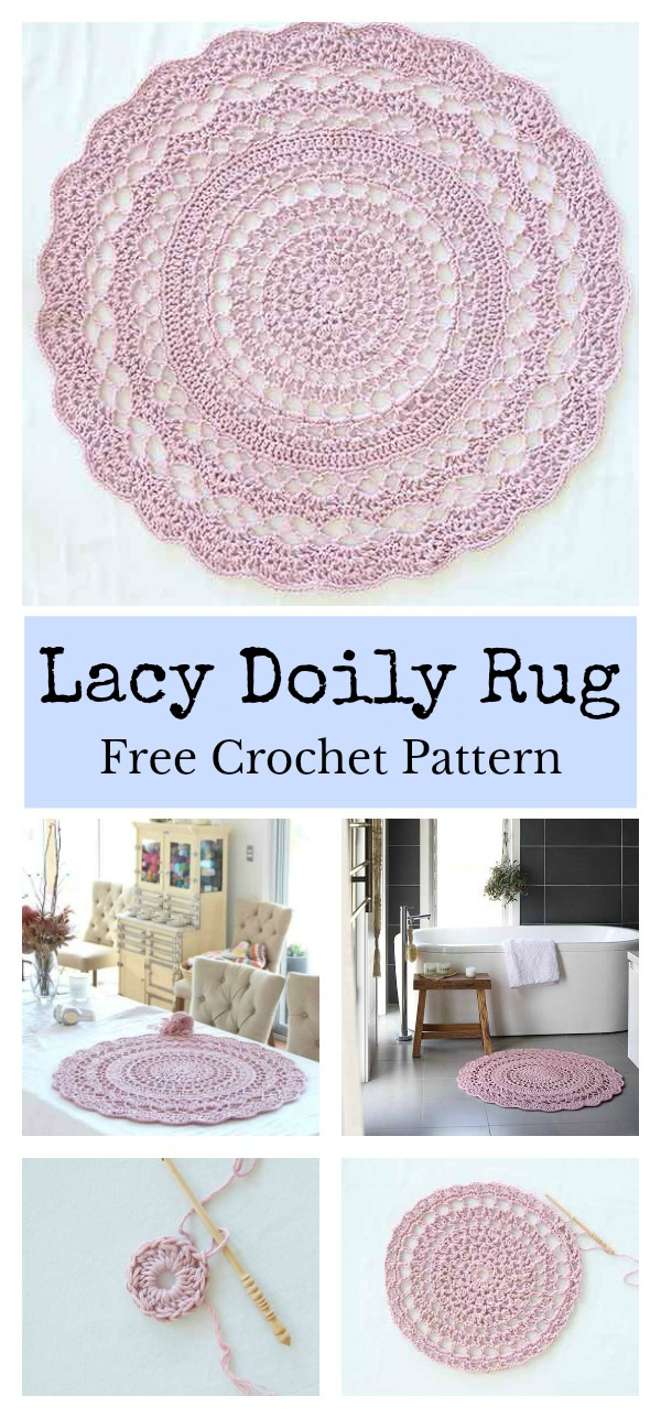 Lacy Doily Rug Free Crochet Pattern
