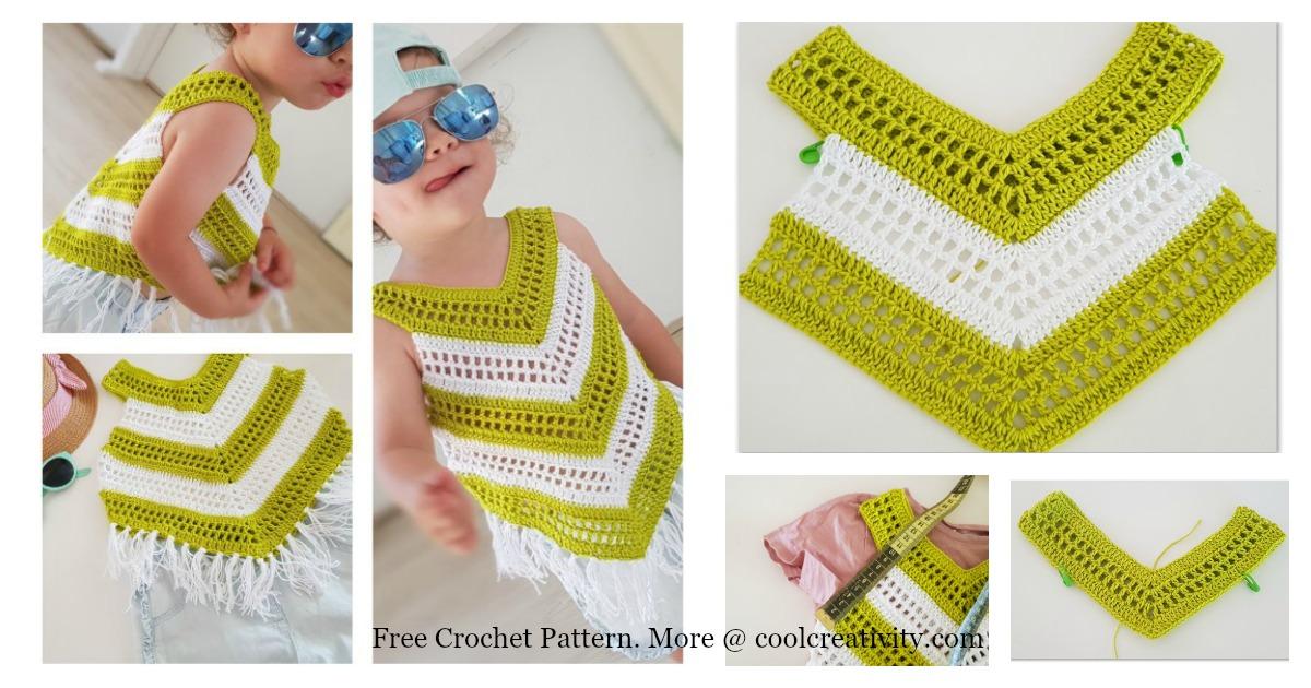 Little Girl Summer Top Free Crochet Pattern And Video Tutorial