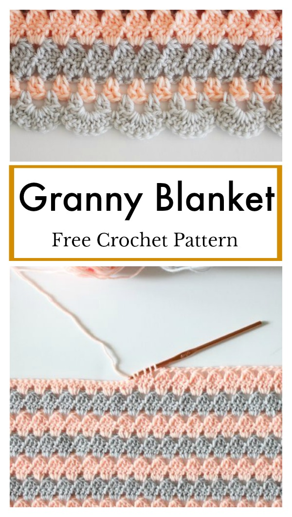 Modern Granny Blanket Free Crochet Pattern