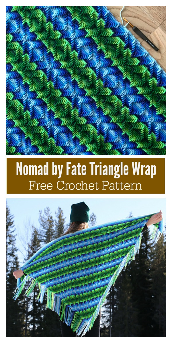 Nomad by Fate Triangle Wrap Free Crochet Pattern