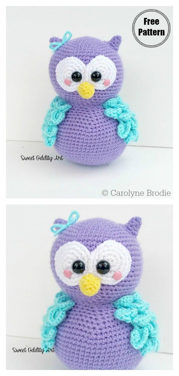 Crochet owl amigurumi pattern | Owl crochet patterns, Amigurumi pattern,  Crochet toys patterns | 1260x600