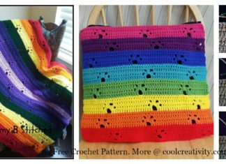 Paw Prints Afghan Blanket Free Crochet Pattern