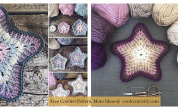 Sea Star Coaster Free Crochet Pattern
