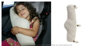 Seat Belt Travel Pillow Crochet Pattern