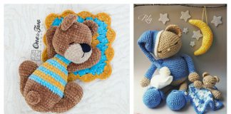 Sleepy Bear Amigurumi Free Crochet Pattern and Paid