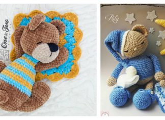 Sleepy Bear Amigurumi Free Crochet Pattern and Paid