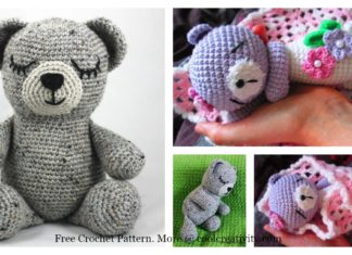 Sleepy Bear Amigurumi Free Crochet Pattern
