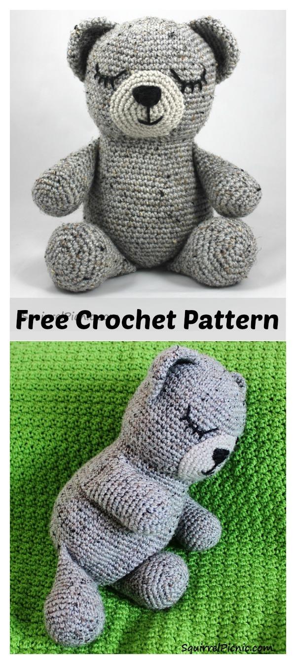 Sleepy Bear Amigurumi Free Crochet Pattern