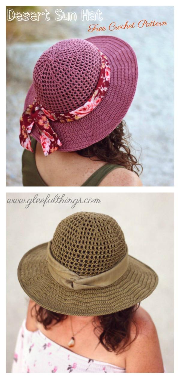 Summer Desert Sun Hat Free Crochet Pattern