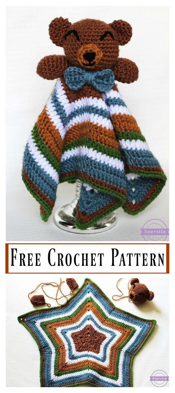 The Cuddliest Bear Lovey Free Crochet Pattern