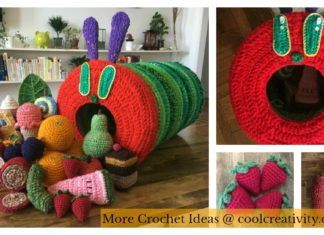 The Very Hungry Caterpillar Free Crochet Pattern