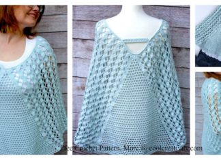 Whimsical Waves Poncho Free Crochet Pattern and Video Tutorial
