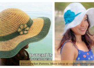 Wide Brim Summer Hat Free Crochet Pattern
