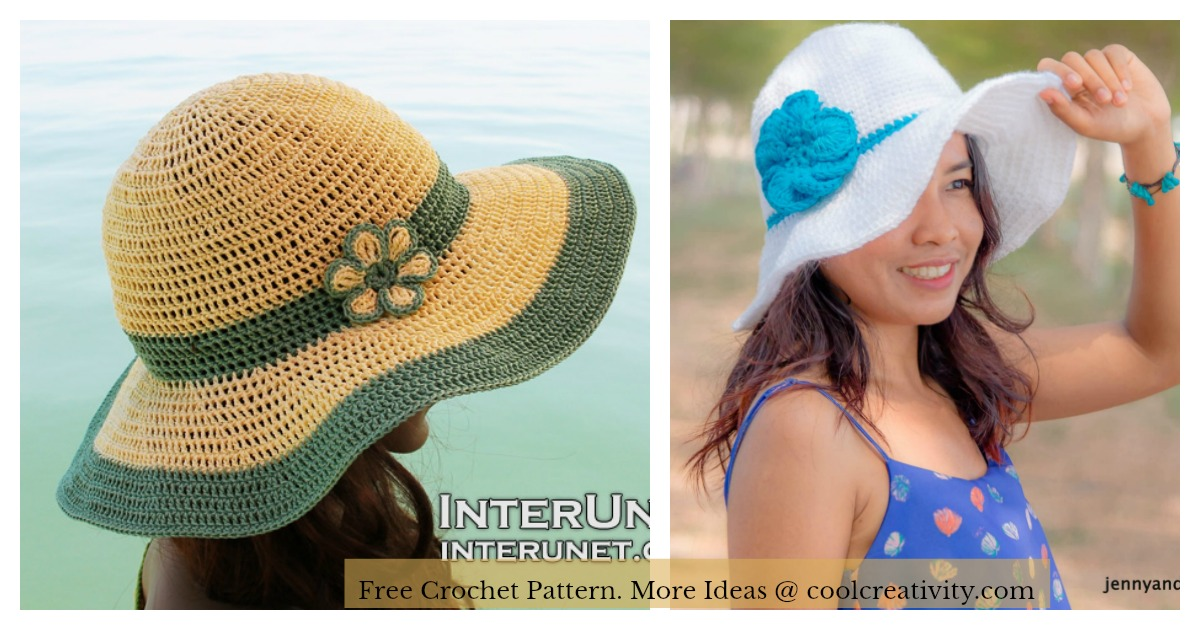 Wide Brim Summer Hat Free Crochet Pattern df2b42ba2ca